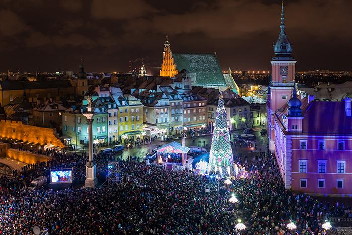 Iluminacje świąteczne miasta