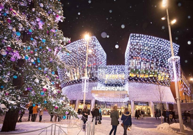 dekoracje świąteczne centrów handlowych