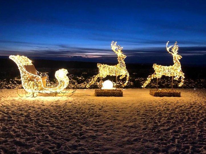 iluminacje świąteczne hotel